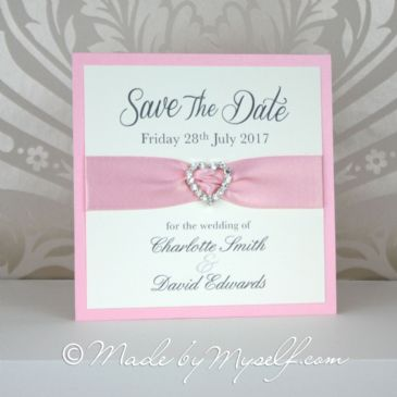 Ribbon Heart Save The Date